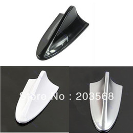 Wholesale Cheap Plastic Decoration - 5pcs lot Universal Cheap ABS Plastic Car Antenna Shark Fin Decoration Silver Black White +Free Shipping