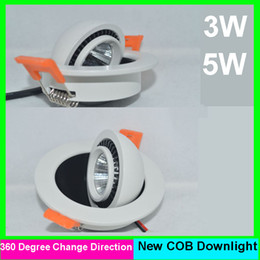 Wholesale Dimmable Cob Led Ceiling Light - 5pcs lot 3W 5w 6w 10w cob Dimmable led downlight Warm Cool white Led Ceiling light lamp 85-265v 3 years warranty