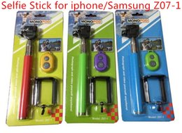 Wholesale Iphone 4s Camera Kit - Z07-01 Blister kits 3 in 1 Monopod Bluetooth Self-timer Shutter + Camera Extendable Tripod+Clip for iPhone 5S 5 4S r Galaxy S4 Note3