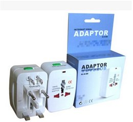 Wholesale Uk Adapter Converter - Drop shipping NEW Multifunction Universal plug Universal World Travel Wall Charger Plug Adapter Power Converter for EU UK US.. Plugs