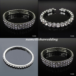 Wholesale Silver Rhinestone Cuff Bracelet - Cheap Bling Bling Bridal Jewelry Bracelets In Stock Sparkly Sliver Prom Party Wear Fashion Teens Pageant Formal Occasion Gift 2016 New Hot