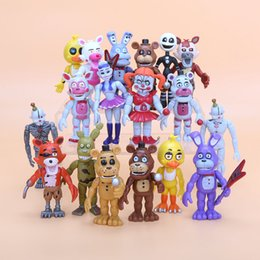 Wholesale Teddy Bear Puppets - 6pcs  Set 10cm Five Nights At Freddy &#039 ;S Fnaf Baby Funtime Foxy Funtime Freddy Ballora Ennard Puppet Plushtrap Chica Action Figures