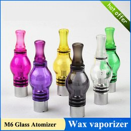 Wholesale Electronic Cigarette Clearmizer - Electronic Cigarette Glass Atomizer Tank Wax Vaporizer For Dry Herb Glass Metal Ceramics Colorful Durability High Quality M6 Clearmizer