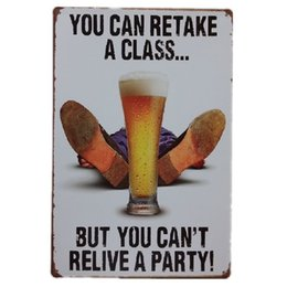 Wholesale Class Decor - Retake a Class Relive a party Vintage Home Decor Retro Tin Sign Rustic Metal Plaque Cool Metal Plate Metal Poster