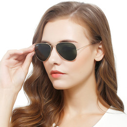 Wholesale Shades For Men - carfia 58mm mirror metal designer sunglasses for men sunglass for women drive shades sunglasses black fashion glasses with freecase and box
