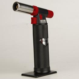 2019 gaz d'air XXL Black torch briquet au butane En plein air barbecue spray briquets commode outils de fumer pour la cuisine utiliser AUCUN gaz avec le paquet de vente au détail cadeau gaz d'air pas cher