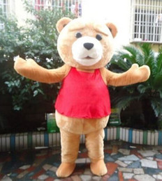 Wholesale Teddy Bear Adult Mascot - Teddy Bear of TED Adult Size Halloween Cartoon Mascot Costume Fancy Dress EVA
