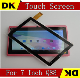 Wholesale Display Screen Tablet Q88 - 20PCS Brand New Touch Screen Display Glass Digitizer Digitiser Panel Replacement For 7 Inch Q88 A13 A23 Tablet PC Repair Part