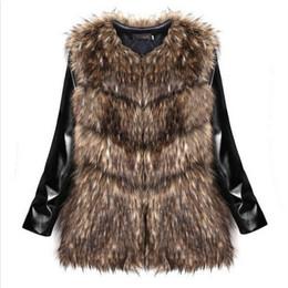 Wholesale Trench Fur Lining - Winter Women Faux Fur Coats Slim Fur Collar PU Leather Warm Fur Collar Coat Leather Jacket Trench Outwear Overcoat Parka SALE OFF FREE SHIP