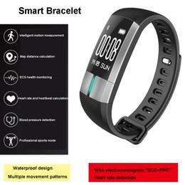 Wholesale Monitor Elderly - G20 ECG Heart Rate Smart Bracelet IP67 Swimming Waterproof Running Pedometer Temperature Blood Pressure Monitoring Exercise For The Elderly