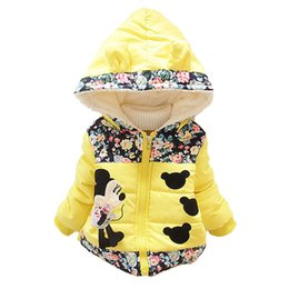Wholesale Baby Korean Coat - Wholesale-1Pcs New 2015 Girls Korean fashion Style coats&Jacket ,,Kids winter thick Warm jackets,Baby Girls Minnie cartoon coat