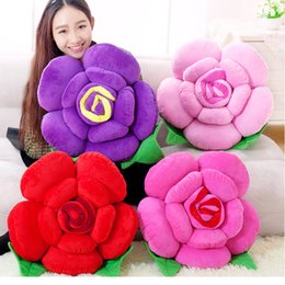 Wholesale Decorating Sofa - Wholesale- 25-48CM at home decorate Essential Universal Floral Lumbar pad headrest Hold pillow Home throw pillows Sofa Rose Pillow