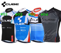 Wholesale Racing Bike Cube - 2015 CUBE Pro Cycling Jerseys Roupa Ciclismo Summer Breathable Racing Bicycle Clothing Quick-Dry Lycra GEL Pad Race MTB Bike Bib Pants