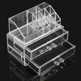 Wholesale Mail Holders - V1NF Acrylic Cosmetic Organizer Drawer Makeup Case Storage Insert Holder Box DHL EMS FeDex Free shipping Mail