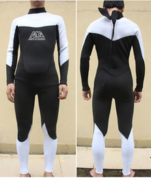 Wholesale Full Diving Suit - Wholesale-MYLEGEND Scuba Diving Jumpsuit Full Body Suit Quality Neoprene Swimming and Surfing Wetsuit 3mm for Men