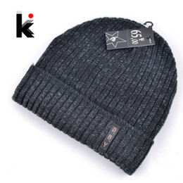 Wholesale Knitted Masks - Wholesale-2015 mens designer hats bonnet winter beanie knitted wool hat plus velvet cap skullies Thicker mask Fringe beanies for men