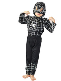 Wholesale Kids Shirts Spider - 3 - 7 Years kid Black spider-man Muscle Role-playing clothing,Long-sleeved T-shirt