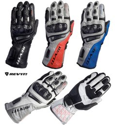 Wholesale Revit Xl - Wholesale-free shipping 2014 REVIT H20 new model Racing Motorcycle Leather Gloves Carbon sports motorbike racing gloves
