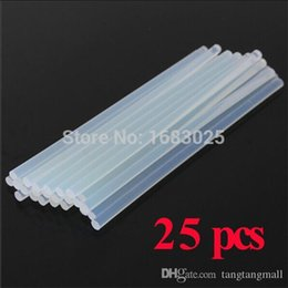 Wholesale Gun Stick For Pc - New Design 25 pcs 7mmx200mm Clear Glue Adhesive Sticks For Hot Melt Gun Car Audio Craft transparent For Alloy Accessories