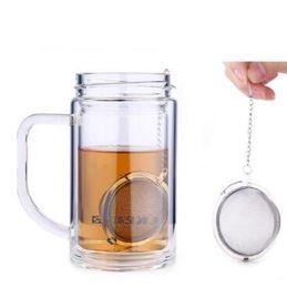 Wholesale Blue Spheres - 4.5cm Tea Infuser Stainless Steel Tea Pot Infuser Sphere Mesh Tea Strainer Ball Kitchen Drinkware Tool CCA8236 100pcs