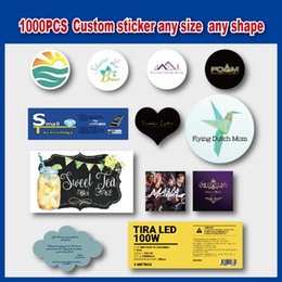 Wholesale Custom Clear Sticker Labels - custom sticker logo text printed sticker label tags adhesive small labels color or clear 1000pcs lot