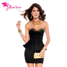 Wholesale Sexi Vestidos - Dear Lover vestidos club sexi Black Fashion Wrapped Chest Mini Bodycon Prom Dress saias curtas femininas vestido de festa LC2660 FG1511