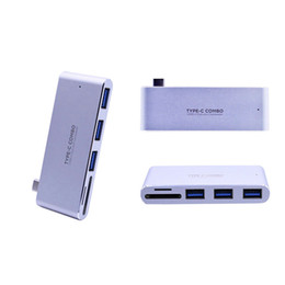 Wholesale Power Card Reader - Type C COMBO USB HUB 3.0 Single Type C Male Connector PD Power SD Card Reader Support All Type C Devices Alluminium Housing Silver Color