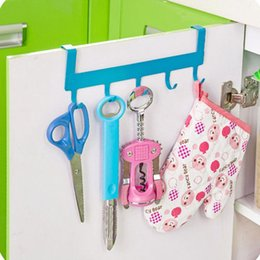 Wholesale Metal Clothes Cabinets - High quality Stainless Over Door Hooks Kitchen Cabinet Draw Towel Clothes Pothook