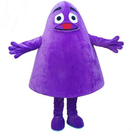 Wholesale Character Mascot Costumes For Sale - Factory direct sale Purple White Monster mascot costume Adult Size Character Purple White Monster Costumes for Fancy Dress Party Clothing