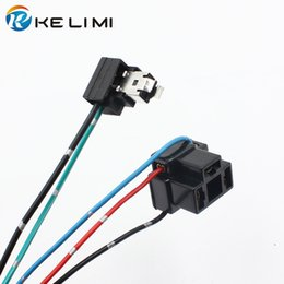 Wholesale H1 Halogen - H1 H4 halogen bulb connector socket extension wire H1 H4 power plug adapter female connector H1 halogen bulb socket lamp holders pigtail