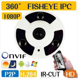 Wholesale Onvif Cctv Network Ip Camera - Full HD 1080P Plus 5.0MP POE Panoramic 360 degree Viewing CCTV IP camera IR Fish Eye Network Camera Support Onvif P2P