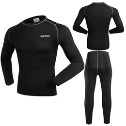 Wholesale Jersey Winter Compression - BIKELEE Mens Winter Fleece Thermal Underwear Long Johns Compression Base Layer Sport Cycling Bicycle Bike UnderWear Long Sleeve Jersey Cloth