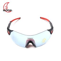 Wholesale Moon Mountains - MOON Polarized Sunglasses UV400 TR90 Outdoor Sports Eyewear Goggles Mountain MTB Women Men Sun Glasses 5 Colors Gafas Ciclismo