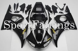 Wholesale Yzf Cowling - Injection Fairings For Yamaha YZF600 YZF R6 03 04 05 2003 - 2005 Plastics ABS Fairings Motorcycle Fairing Kit Bodywork Cowling Black Gold