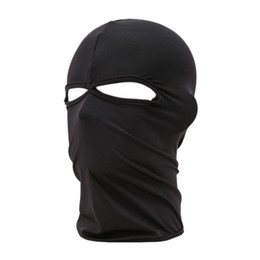 Wholesale Breathing Face Mask - Wholesale-Best Deal New Unisex Outdoor Cycling Riding Dustproof Breathe Freely Lycra Two Holes Neck Protection Full Face Mask 1pc