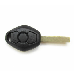 Wholesale Replacement Bmw Keys - Free shipping 3 button remote key shell car replacement key case for BMW 3 5 7 SERIES Z3 Z4 E38 E39 E46 Remote Case HU92 Blade