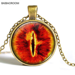 Wholesale Eye Sauron - Wholesale- Western jewelry eye Sauron time gem necklace supply