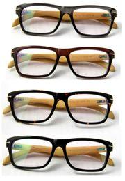 Wholesale Eyewear Wood Temples - wholesale wood optical frames bamboo men&women spectacles acetate plank frame bamboo temple eyewear vintage eyeglasses free shipping