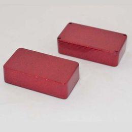 Pédale de pédalier en Ligne-2X 1590B style Hammond Aluminium Stomp Box enceinte de la pédale d'effets clignotant rouge