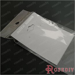 Wholesale Earring Cards Bags - (8179)Jewelry Plastics Bags,Card size 6.5*5cm White Paper and Plastics Drop Earrings Packaging Card 100PCS with Plastic Bags
