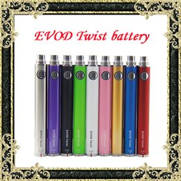 Wholesale Ego Compatible Batteries - EVOD Twist Battery Variable Voltage 3.3-4.8V for Electronic Cigarette 650mah 900mah 1100 1300mah Compatible with eGo series E cigarette