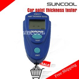 Wholesale Paint Gauge Meter - Wholesale-SUNCOOL New 2015 Mini Car paint thickness tester measurement Digital LCD Coating thickness gauge Car Auto painting tester meter