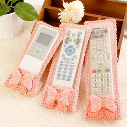 Wholesale Tv Remote Control Cases - Wholesale- TV Air Conditioning Remote Control Case Cover Lace Cover Greaseproof Free Shipping