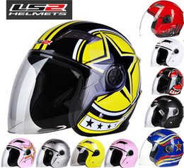 Wholesale Ls2 Winter - 2016 New LS2 Half face motorcycle helmet ABS electric bicycle Motorbike helmets warm winter safety helmets men women OF501