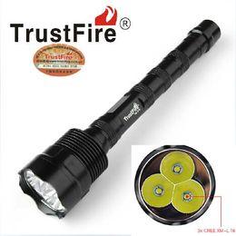 Фонарь супер свет онлайн-Супер яркий 4000lm TrustFire фонарик 3T6 LED лампе Факел 5mode вспышка света Lanterna охотничье снаряжение 3x18650 батареи