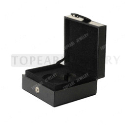 Wholesale Pocket Square Storage - Free Shipping! Pocket Watch Box Black Leather Storage Case Gift Box gift box packages gifts moving