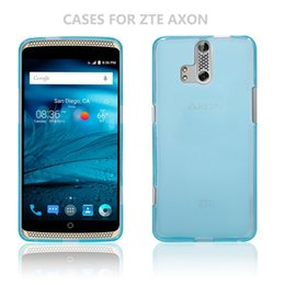 Wholesale Thin Cell Phones For Sale - 2016 hot sale High Quality Ultra Thin Soft TPU Shockproof Cell Phone Case For ZTE AXON Material shell