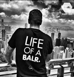 Wholesale Football Shirt Printing - 2018 lift of a balr t-shirt tops balr men&women t-shirt cotton Soccer football sportswear shirts BALR brand clothing