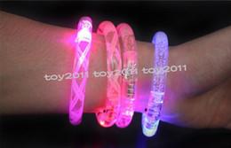 Wholesale Light Up Bracelets Free Shipping - LED bracelet light up flashing Glowing bracelet Blinking Crystal bracelet Party Disco Christmas Gift Free shipping