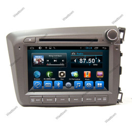 Wholesale Dvd Player For Honda - Double din car gps sat nav radio car dvd player support tpms car info mirror link glonass fit for Honda Civic Right